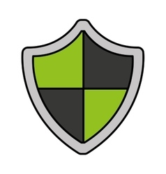 Shield guard security icon vector