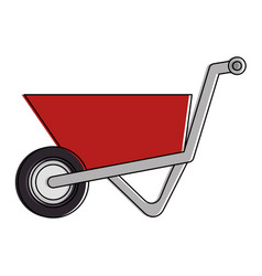 wheelbarrow construction isolated icon vector image