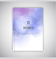 business brochure with watercolour texture vector image vector image