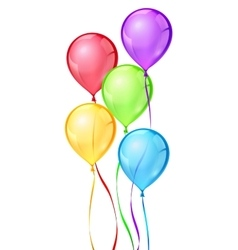 color birthday party balloons vector image