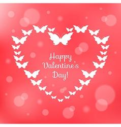 Heart of butterflies Valentines Card vector image