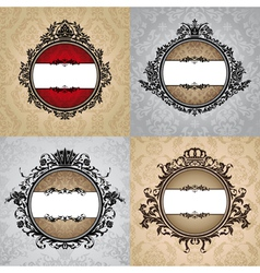 set of abstract royal vintage frames vector image