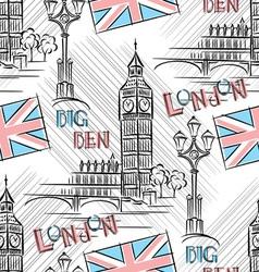 Big Ben seamless vector image vector image