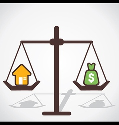 cost of house is equal to you save money vector image