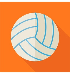 Flat Sports Ball Volleyball with Long Shadow vector image