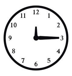 Round wall clock icon simple style vector image vector image