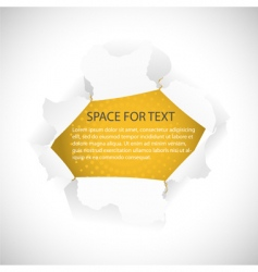 torn hole in paper vector image