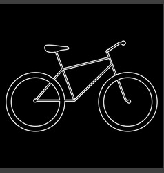 Bicycle the white path icon vector