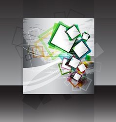 flyer or cover design vector image