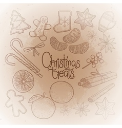 Graphic christmas treats vector image
