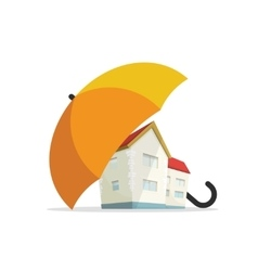 House insurance concept home real estate vector image