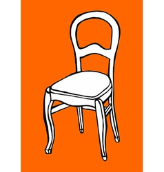 Objects collection chair vector