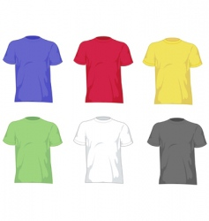 T- shirts vector image