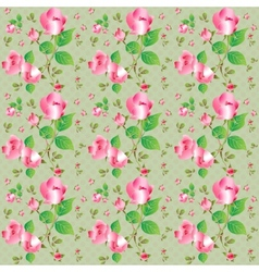 Vintage seamless pattern with beautiful roses vector