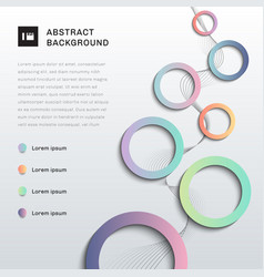 abstract background brochure template colorful vector image