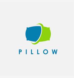 abstract minimalist pillow logo icon vector image