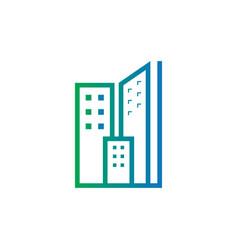 Abstract skyscraper business logo vector