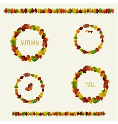autumn leaves badges vector image