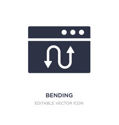 Bending icon on white background simple element vector