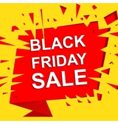 Big sale poster with BLACK FRIDAY SALE text vector
