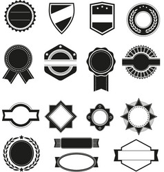 Big set of black silhouette frames or vector image