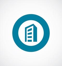 Building icon bold blue circle border vector