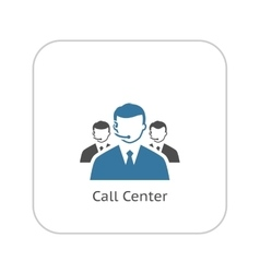 Call center icon flat design vector