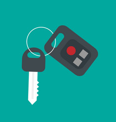 car key security icon flat car key security vector image