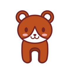 Cartoon brown bear animal image vector