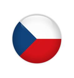 czech republic flag on button vector image