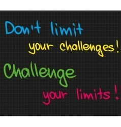 Dont limit your challenge vector