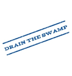 Drain The Swamp Watermark Stamp vector