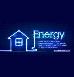eco energy saving light led bulb glowing compact vector image