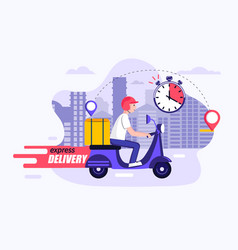 express and free delivery in time concept vector image
