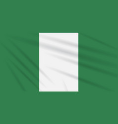 Flag nigeria swaying in wind realistic vector