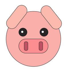 Flat style piglet head vector