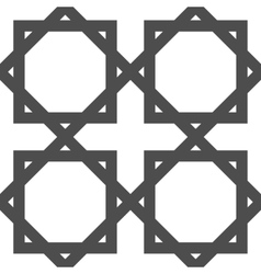 Geometric arabic islamic seamless pattern vector