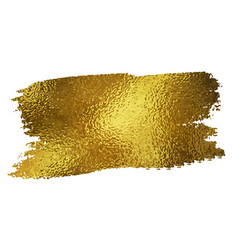 gold texture paint stain vector image