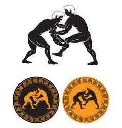 Greco Roman wrestling vector image