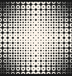 Halftone seamless pattern with circles squares vector