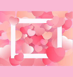 heart valentines day background with free space vector image