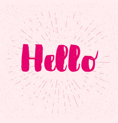 Hello - lettering for greeting card vector