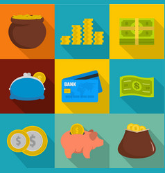 Hoarding icons set flat style vector