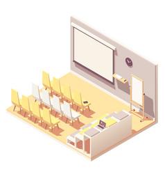 isometric office presentation room interior vector image