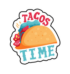 its tacos time vector image