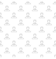 man avatar pattern seamless vector image