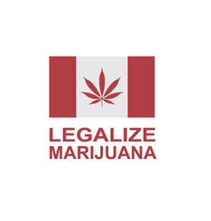 Marijuana leaf on canada flag vector