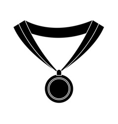 medal award win sport image silhouette vector image