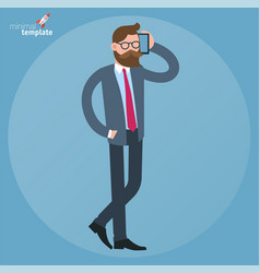 men mobile speaking vector image