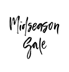 Midseason sale brush lettering vector